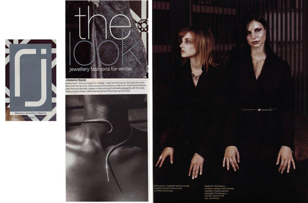 2002 Retail Jeweller magazine feature & photo shoot
