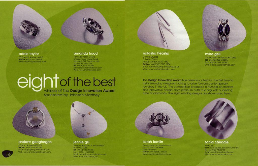 2003 Design Innovation Award '8 of the best'