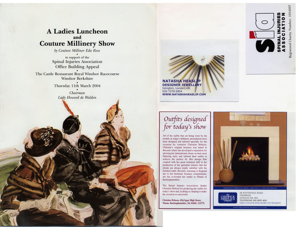 2004 Couture Millinery Show SIA March poster