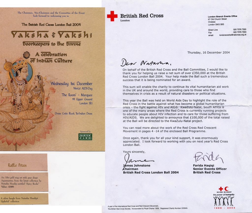 2004 Red Cross Ball , thank you letter 2004