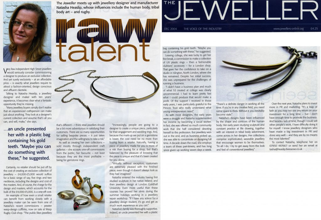 2004 the Jeweller magazine feature article