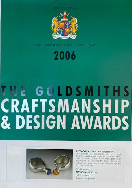 2006 Silver Award, Goldsmiths cratsman & design awards