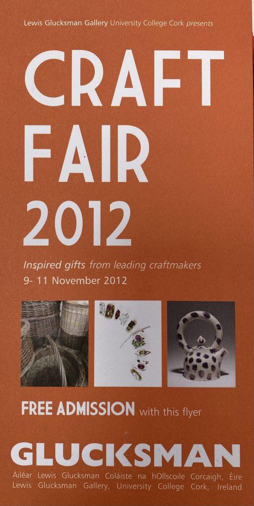 2012 Glucksman Craft Fair invite