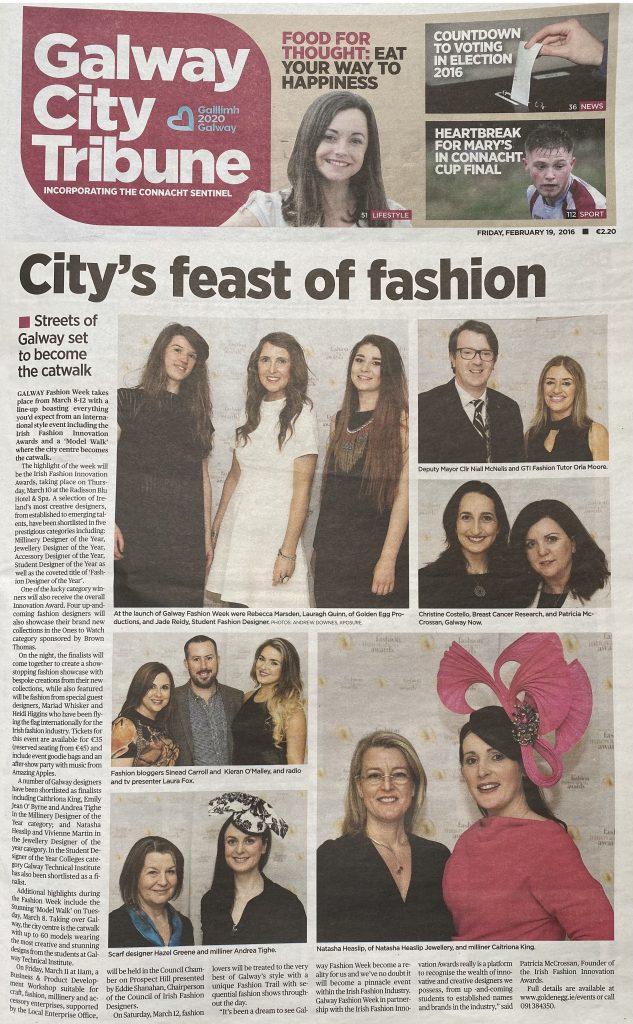 2016 Irish Fashion Innovation Awards City Tribune