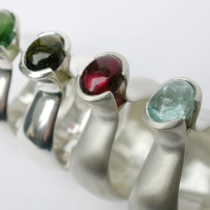 Group shot Dome style rings
