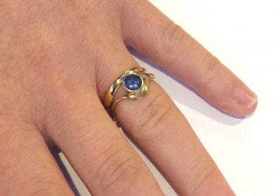 18ct gold ladies band to match bespoke engagement ring