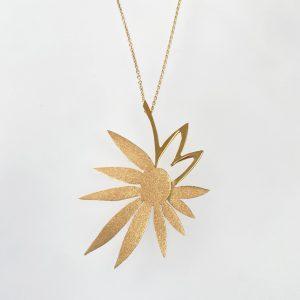 Starflower 18ct gold hand pierced and semi sandblasted