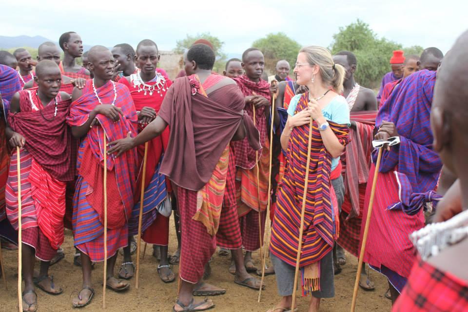 Natasha Heaslip with Masai Mara