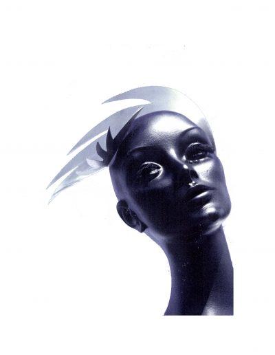 Headpiece on mannequin